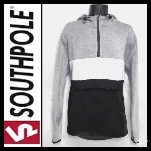 South Pole Other - Southpole 1/4 Zip Hoodie Gry/Wht/Blk Sz XXL GUC